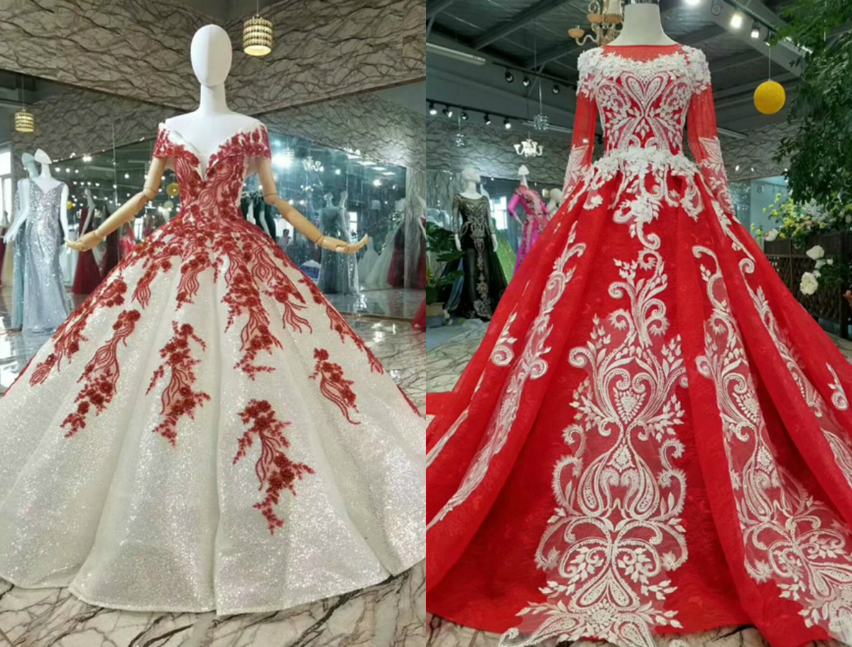 Red And White Wedding Dress.Best 9 Red And White Wedding Dresses In 2019 Royal Wedding