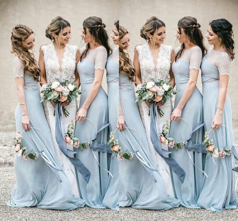 Blue Bridesmaid Dresses For 2020