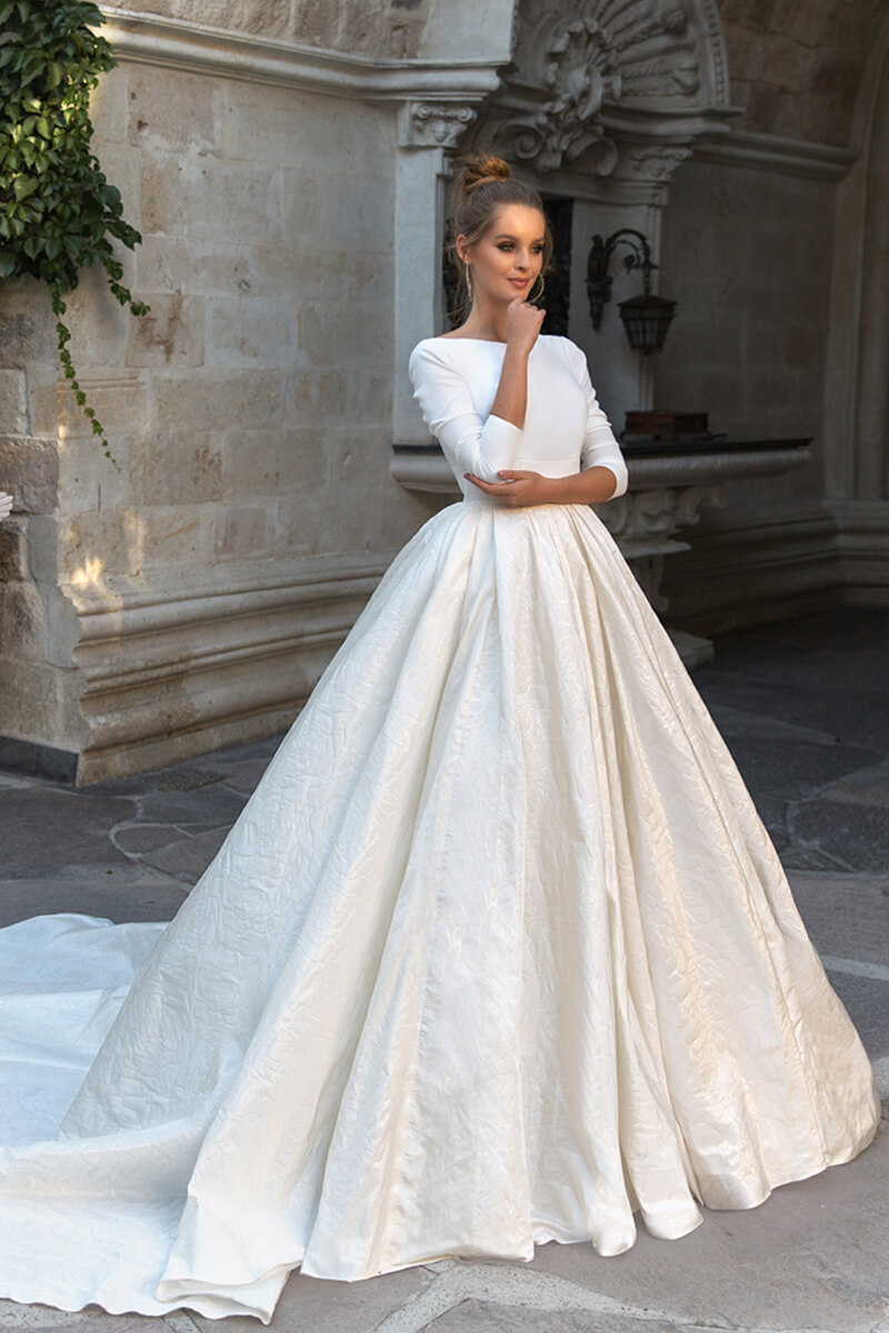 Long Sleeved Wedding Dresses.9 Charming Princess Wedding Dresses For 2019 Royal Wedding