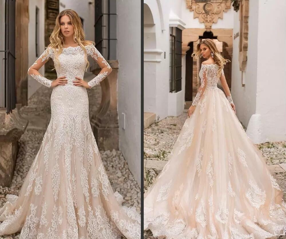 21 Best Wedding Dresses With Long Sleeves In 2019 Royal